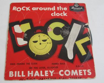 Bill Haley And His Comets ROCK AROUND THE CLOCK EP 1956 UK  EX+ AUDIO